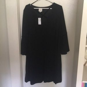 Black dress - fit and flair style